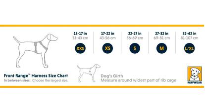 Tabla de medidas Ruffwear Front Range™ Harness | Best for Pets